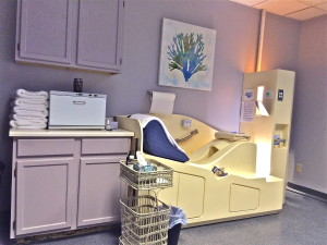 Our Serene Colon Hydrotherapy Room Featuring the Angel Of Water Colon Hydrotherapy Device